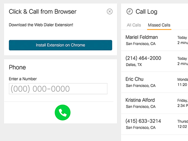 Cisco Meraki Phone Portal Screenshot