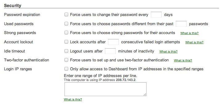 Strengthen your password policies